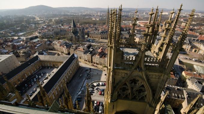 Les hauteurs de la Cathédrale de Metz