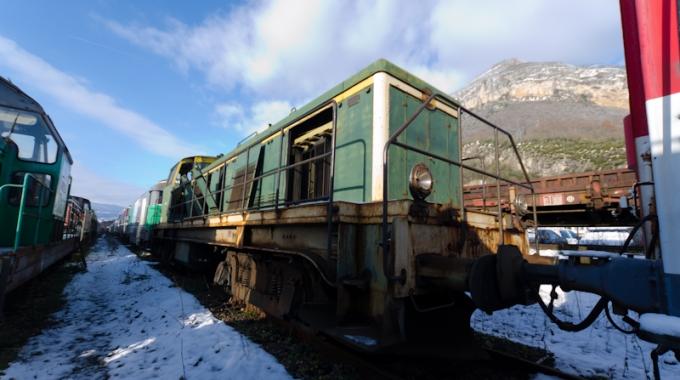Le dépôt de train